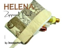 This bargain price Zipper Pouch pattern called Helena is a great way to use up your fabric scraps to make one of a kind project. These little Zipper Pouches which measure 6 inches (15 cm) high by 9 inches (23 cm) long when finished make perfect gifts for friends or family.