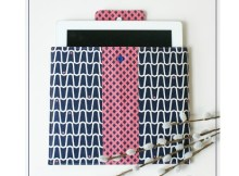 Today Sew Modern Bags has brought you a Tablet CaseFREE tutorial and pattern. Thiscase is both equally protectiveandstylish for your tablet. Choose one of your favoritefabrics and make yourself a pretty to look at casethat you will want to take with you everywhere. The slight padding adds support and the snap closure makes it easy for you to use your tablet and then store it safely and securely.