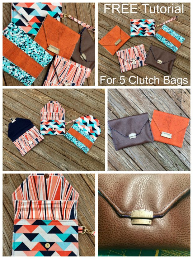 Well with this fabulous FREE Tutorial you don't just get one FREE tutorial on how to make The Pepper Party Clutch, you actually get FIVE. The designer Cyndi takes you through this quick and easy project that allows you to practice using various types of closures and hardware.