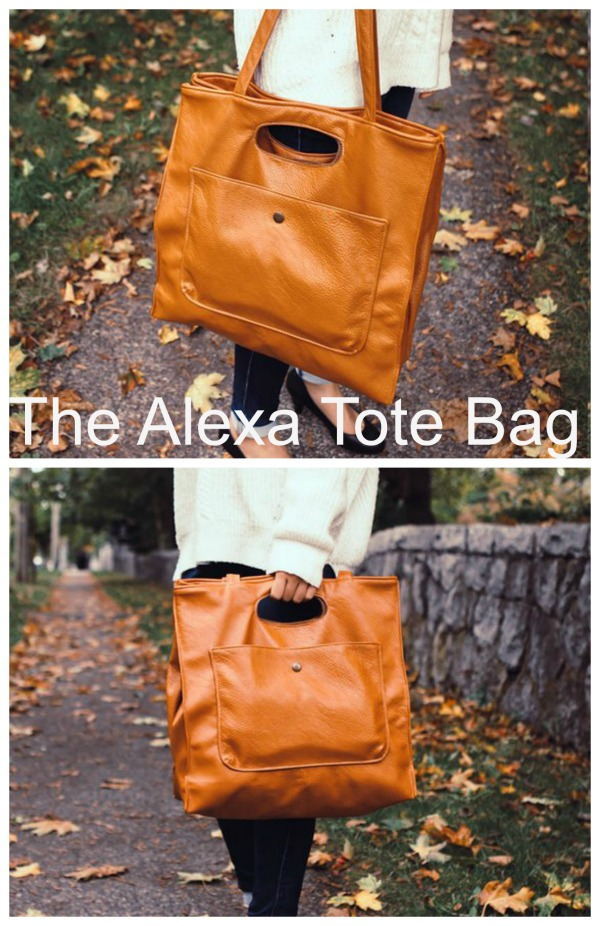 The Alexa Bag is a modern and versatile bag, perfect as your everyday companion! Alexa is a big bag that can carry a lot of stuff. She can be used for short travels, trips to the market, books, laptops and all of your essentials. This bag is a great project, a great personal addition to your collection and could make a beautiful gift.