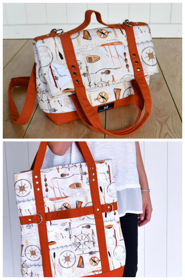 Here's the digital pattern for the Versatile Convertible Foldover Bag, that the designer has named - Gabbie's Grove. The designer says that the Gabbie's Grove is perhaps the most versatile bag you will ever make and we agree with her. This super cool convertible bag can be worn or carried in FIVE separate ways.