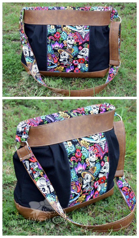 The Zinnia Zippered Panel bag has an adjustable crossbody strap, a zippered pocket for the main closure and three slip pockets inside the bag. You can choose your favorite piece of fabric for the main centre panel of the bag.