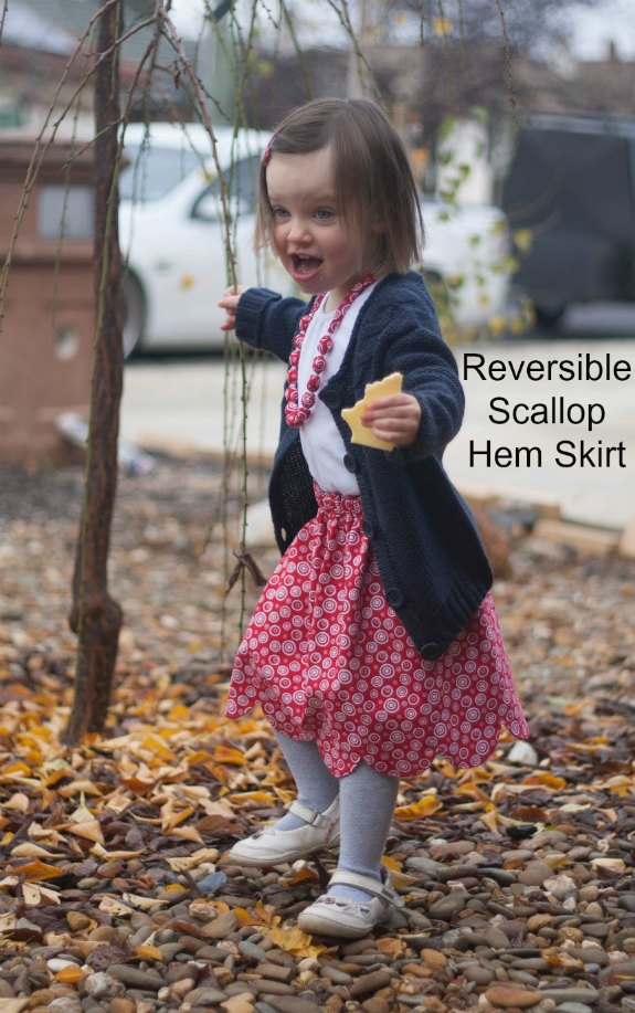 What little girl wouldn't like two skirts in one? The Bluebell Skirt comes with a FREE pattern and tutorial and is completely reversible. This denim skirt also has a very cute scalloped hemline and although that adds a few technical issues to the pattern, the Bluebell Skirt is still a very easy sew.
