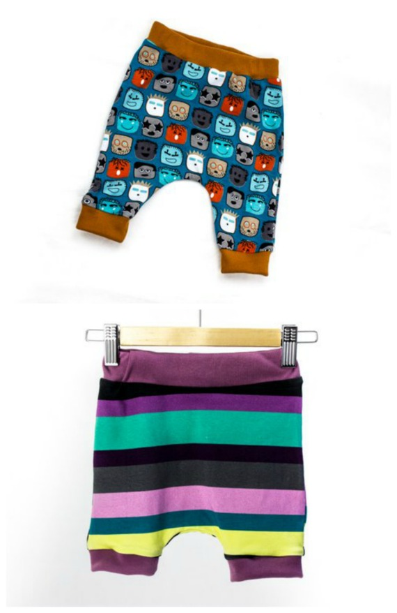 Here's a great pattern that is suitable for beginners sewers who want to sew up some very versatile and easy Harem pants for babies and toddlers. You can use any suitable stretch fabric from light cotton jersey through to warm fleece to make these fabulous pants. As a bonus from the designer, the pattern includes several variations including optional knee pads, shorts pattern, long pants.