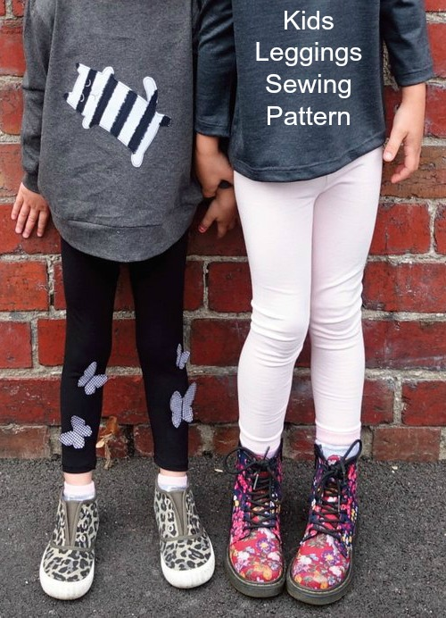 Every kid needs at least one pair of leggings and that's what we have brought you today from Sew Modern Kids. Here's a sewing pattern for some kids leggings in sizes 1-7. This legging pattern is easy and quick for the sewer while the leggings themselves are easy and comfy to wear. The leggings come with an elastic waist but without a side seam.