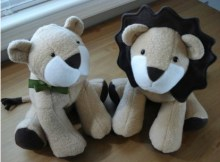 """This awesome pattern is an Etsy bestseller. The Lion Toy sewing pattern will make you a wonderfulLarry Lion plush toy which will have a finished size of 13"""" (33 cm)."""