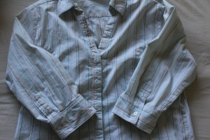 Button Up Shirt with 3/4 Length Sleeves