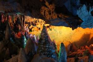 Cavern tour at Florida Caverns State Park.
