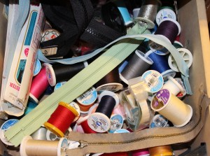 My thread drawer is stil pretty messy!