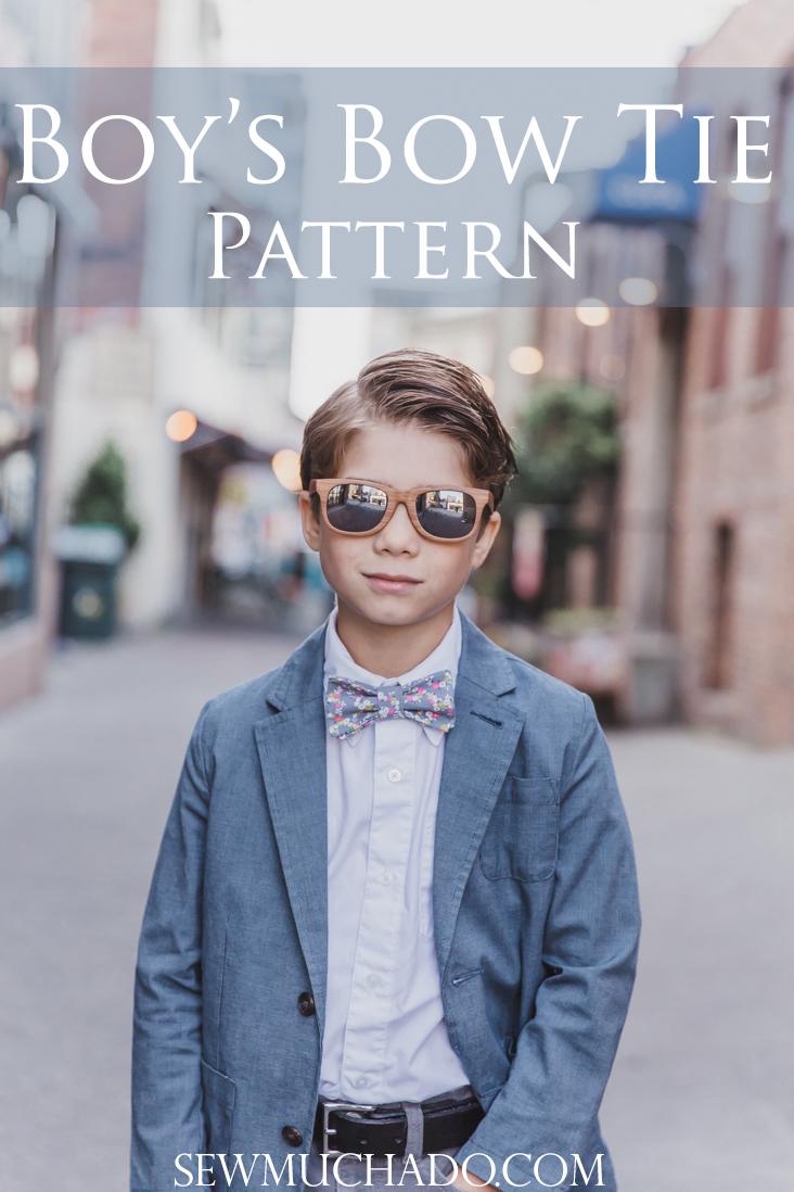 Baby Bow Ties Pattern : pattern, Boy's, Pattern, Cricut, Simplicity