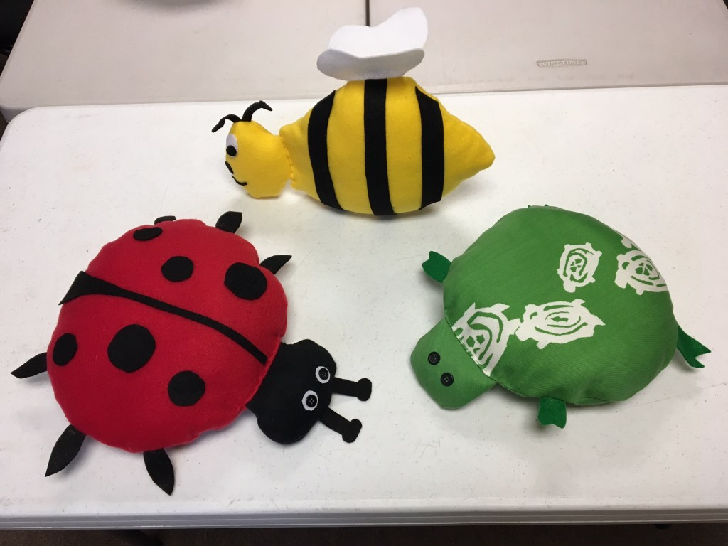 Ladybugs, turtles, bumblebees