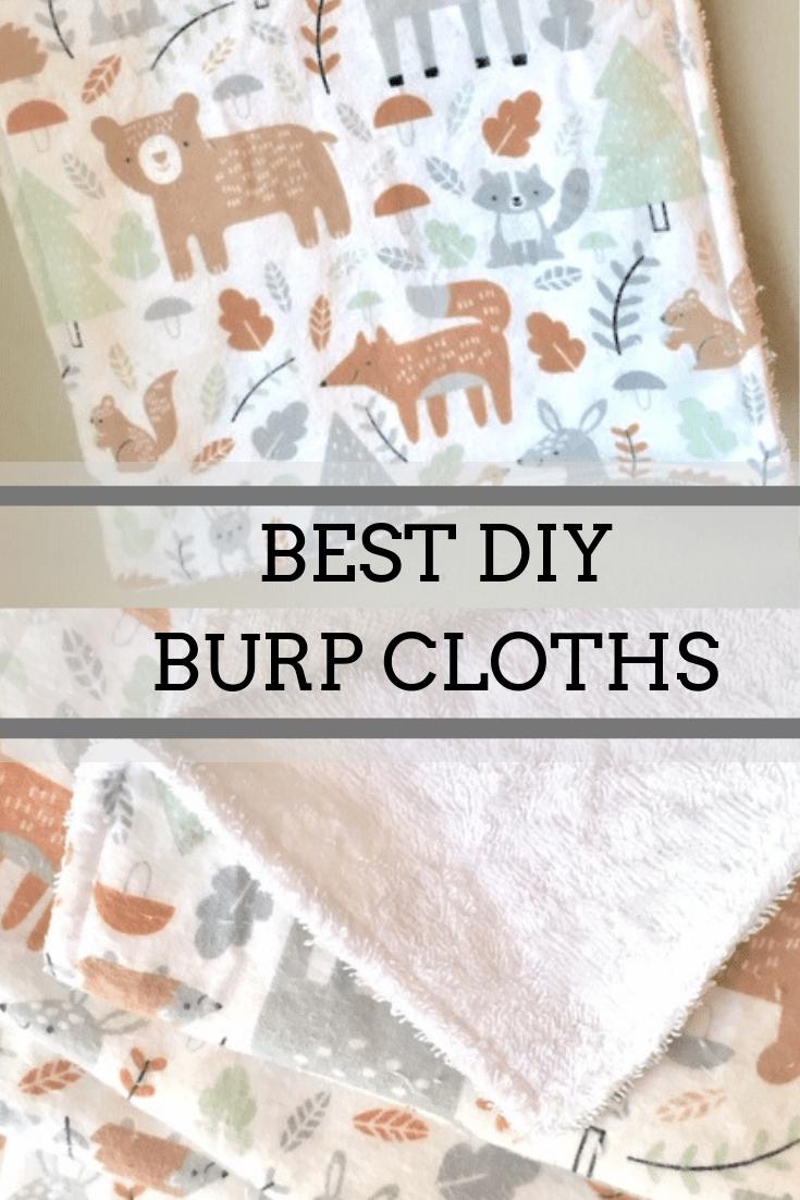 Diy Burp Cloth Tutorial Sew Much To Create