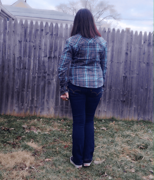 You never realize how much you slouch or how awkwardly you stand until you see yourself from behind.