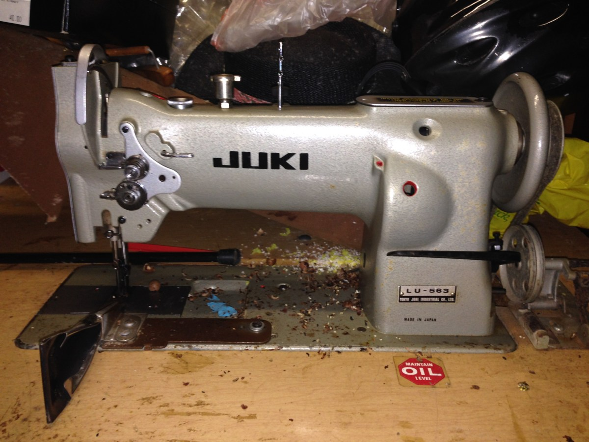 I Have Unearthed an Industrial Leather Juki Sewing Machine!