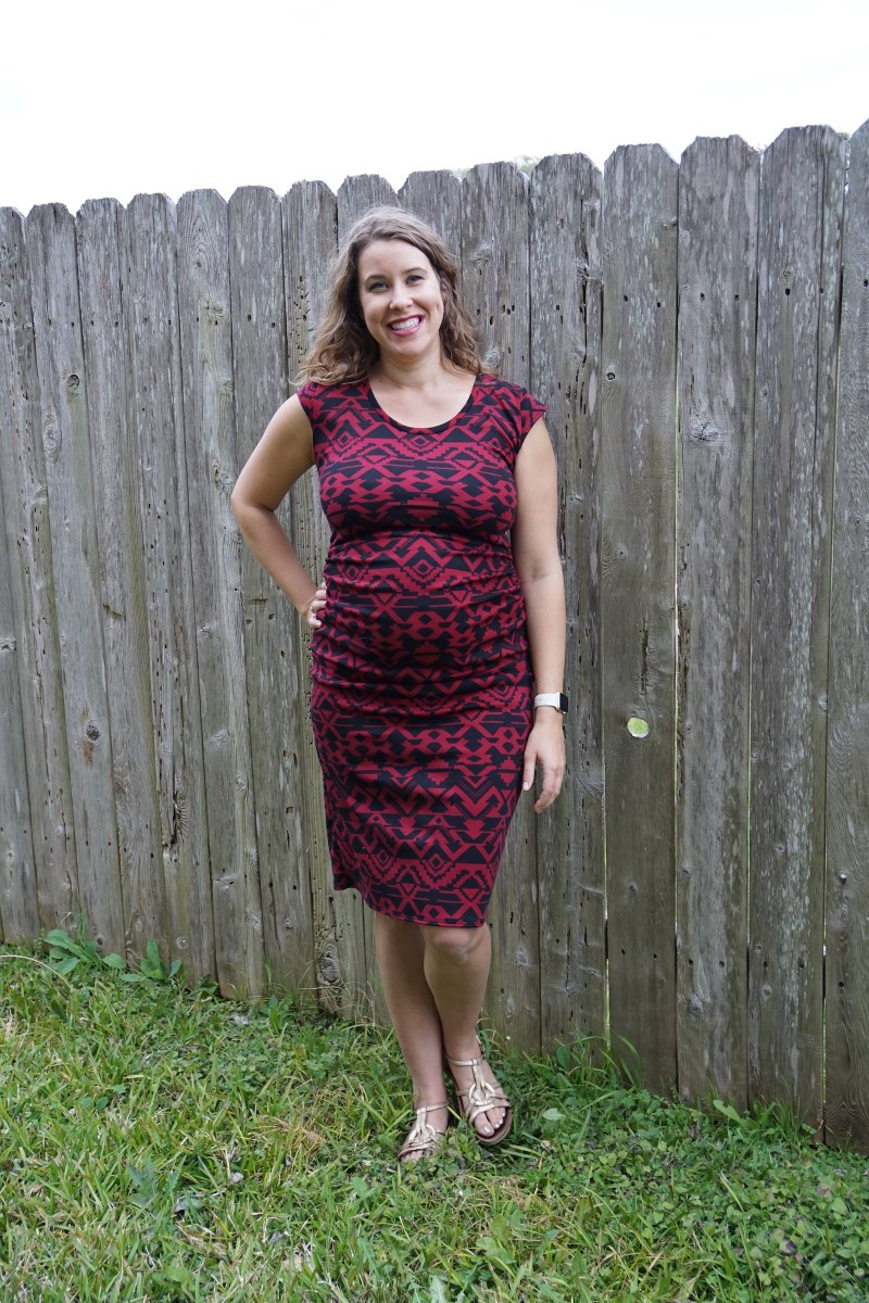 A Fun Maternity T-Dress