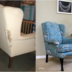 Where To Get Chairs Reupholstered Chair Leg Covers Home Depot Diy: How Reupholster A Wingback