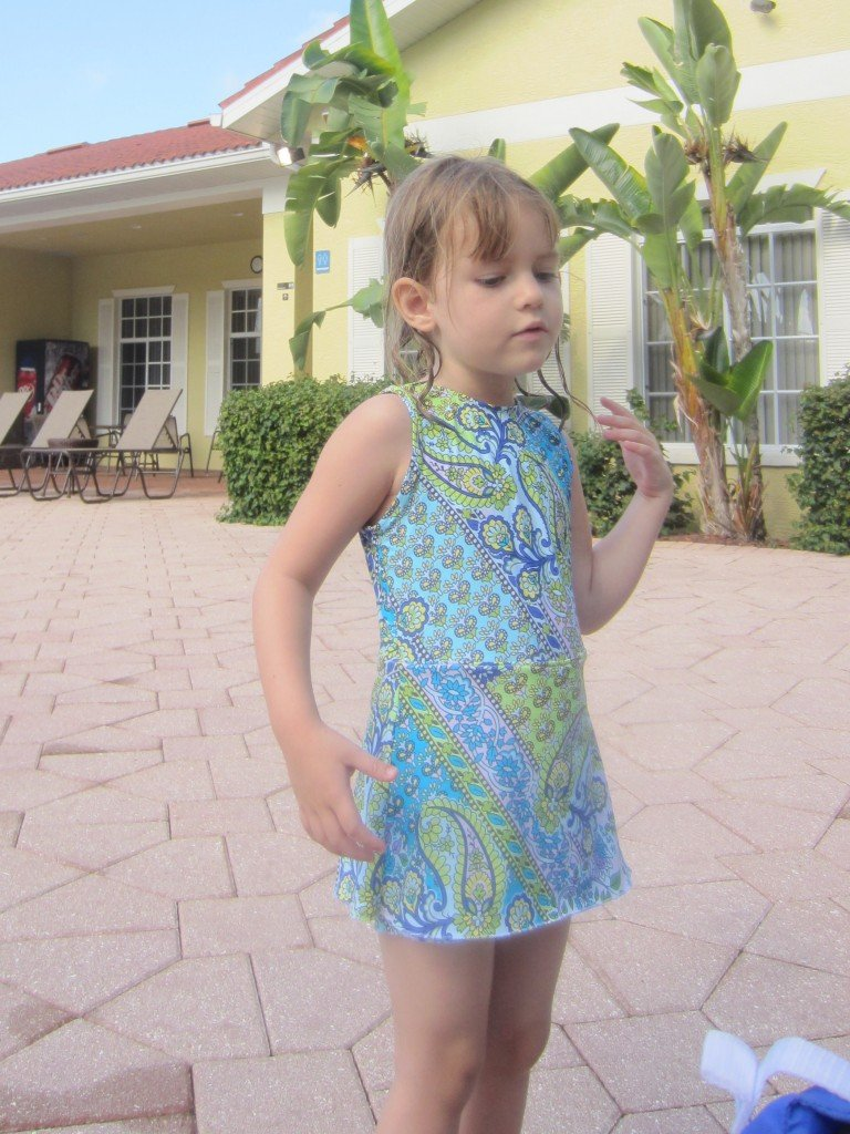 Flora Girl's swimsuit, Sew Pomona