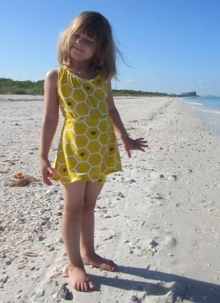 Flora Girl's Skirted Swimsuit