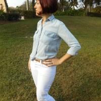 Organic White Denim Morgan Jeans