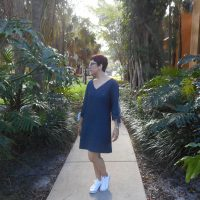 Blue Linen Marilyn Dress