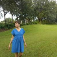 Blue Stripe Charlie Caftan Mini
