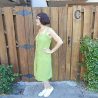 Pear Linen Fiona Dress