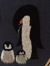 Penguin embroidery 3