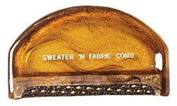 Fabric and sweater comb