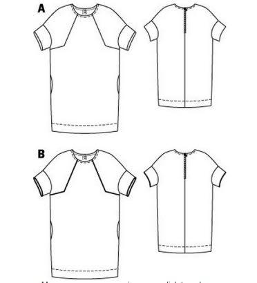 Raglan Tunic Dress 10:2014#127A