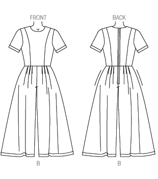Vogue 9075 View B line drawing