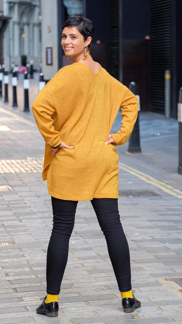 Oversize V-Neck Sweater Burda Style 12-2015 #118A-4