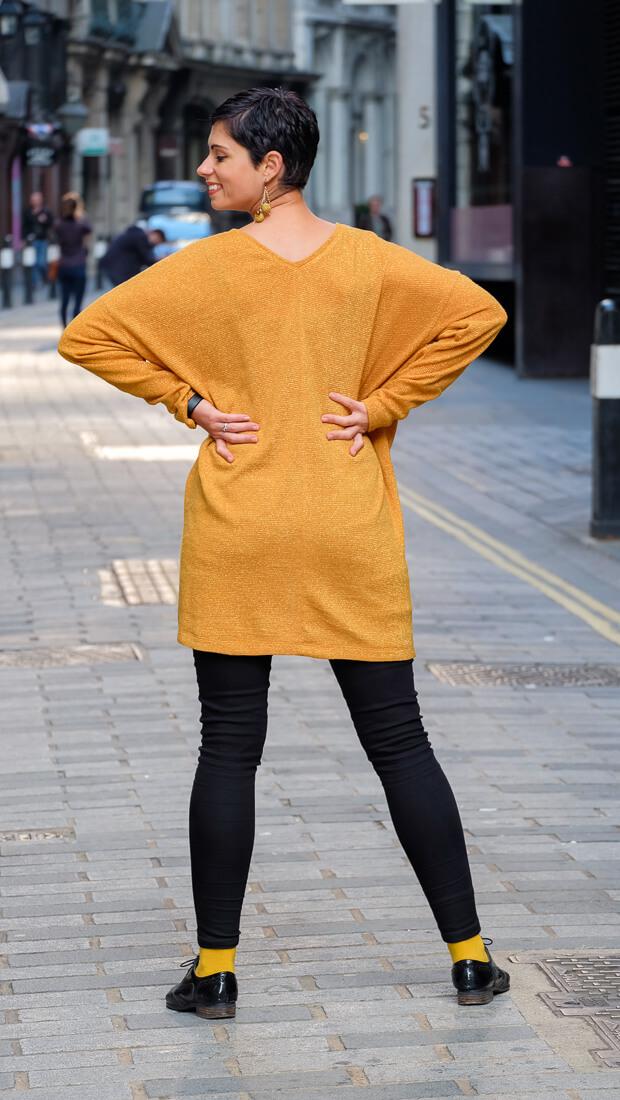 Oversize V-Neck Sweater Burda Style 12-2015 #118A-5