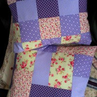 Purple Patchwork Cushions