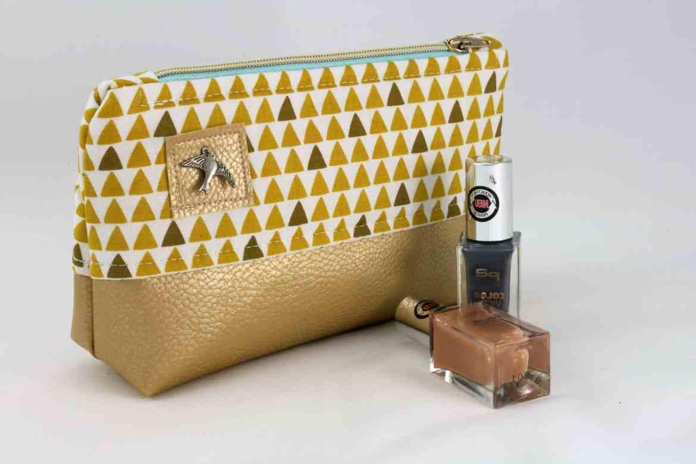 Kosmetiktasche mit Kunstleder | Schnittmuster Alsterprinzessin | 3 Größen