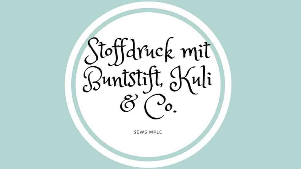 ᐅ Stoffdruck Mit Buntstift Kuli Co Anleitung Ideen