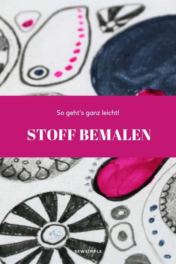 Gut bekannt Stoff mit Stoffmalfarbe bemalen: Praxis-Anleitung (getestet) JP59