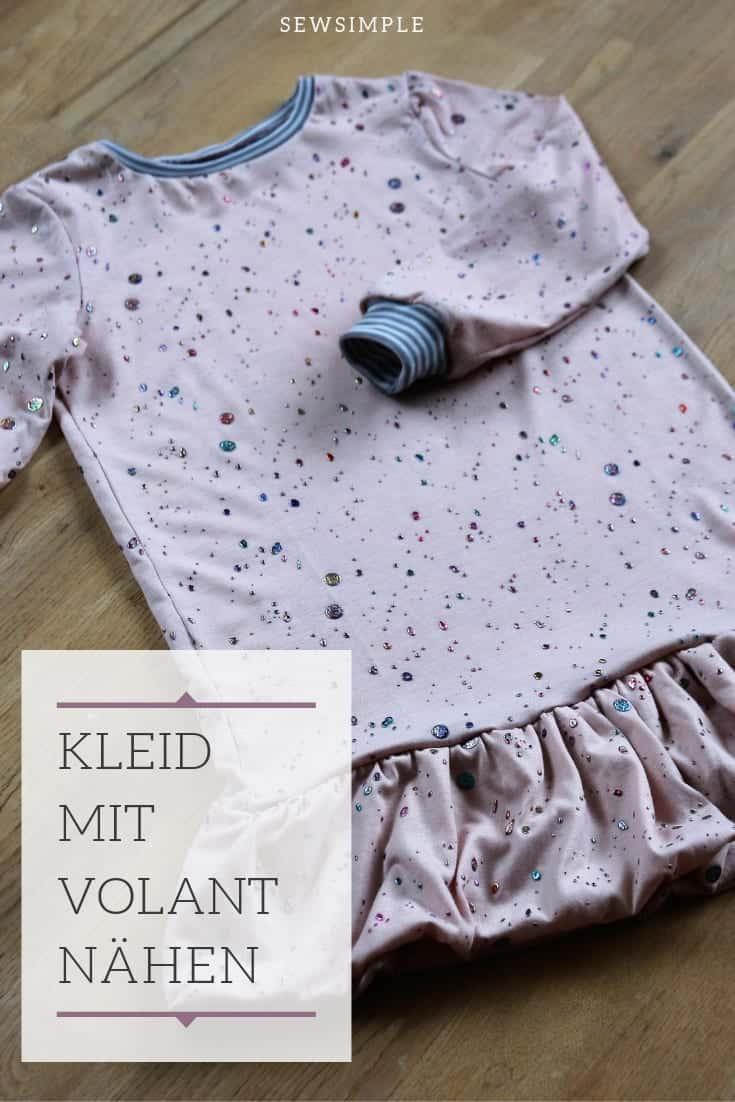 Kleid mit Volant nähen