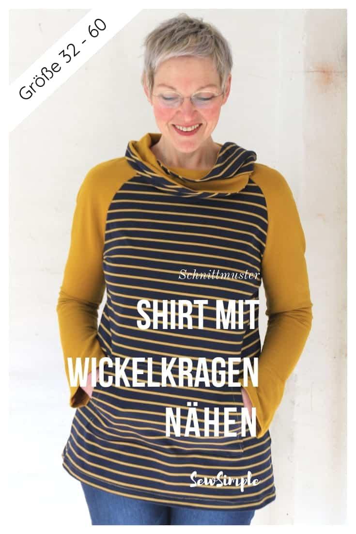 Shirt mit Wickelkragen nähen