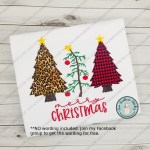 Raggedy Christmas Tree Trio Applique Design 2 Applique Tre