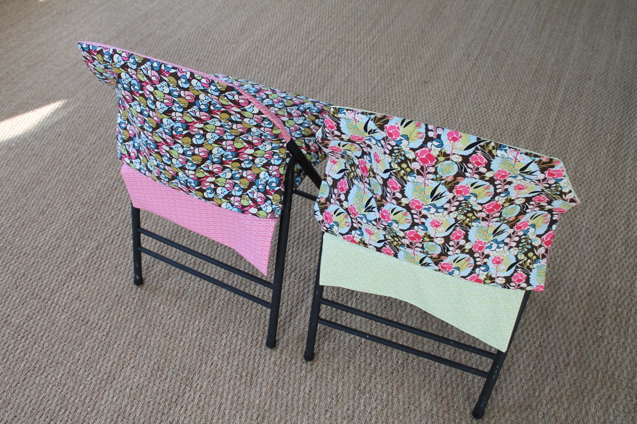 folding chair slipcovers furry desk how to sew a reversible slipcover sewspire by