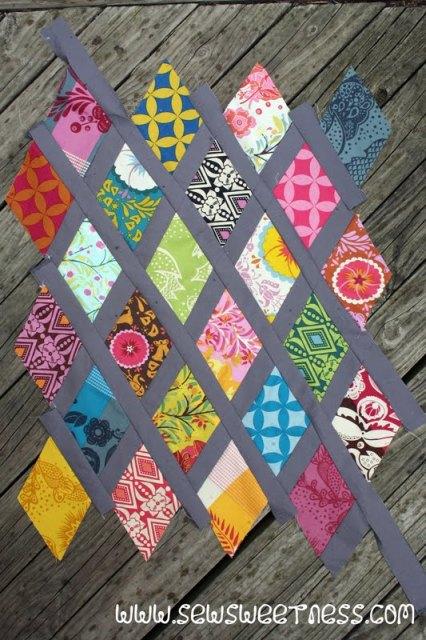 Tutorial Diamond Lattice Pillow Sew Sweetness