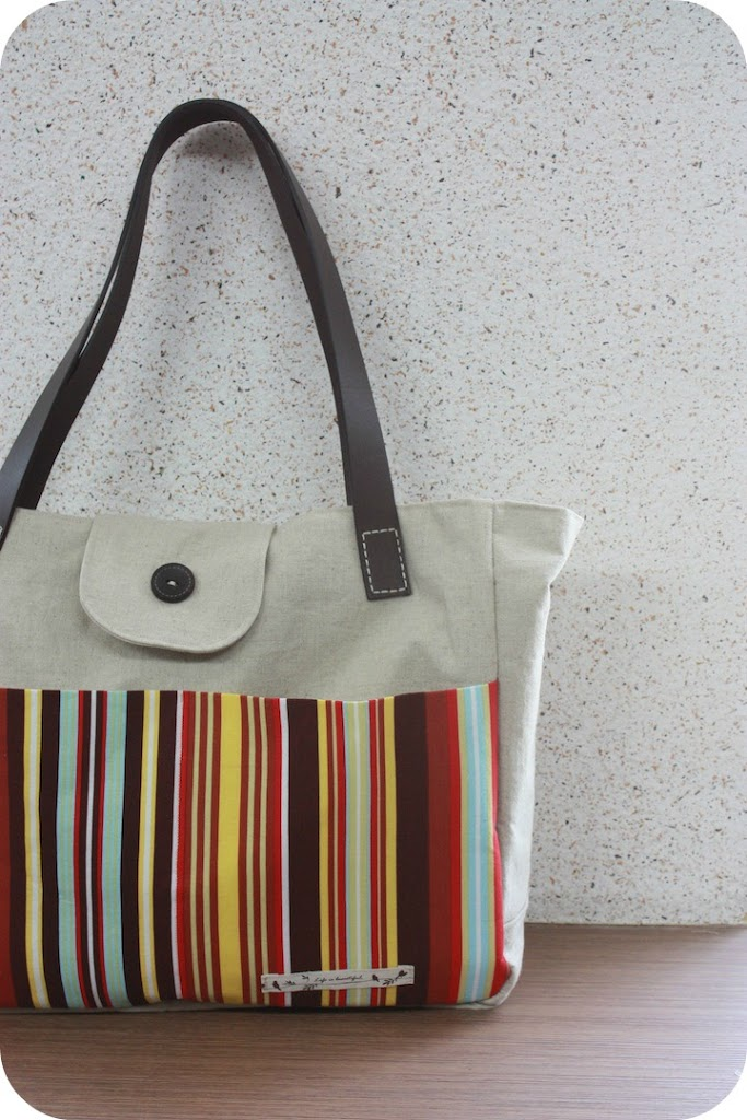 Reader Tutorial Diy Tote With Leather Straps Sew Sweetness