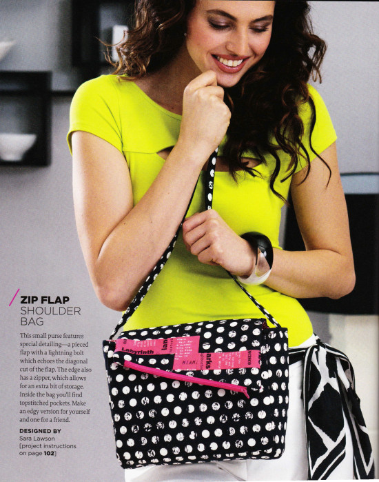 f25f11a174 The ACTUAL bag that I made for Stitch Magazine s Fall 2014 issue