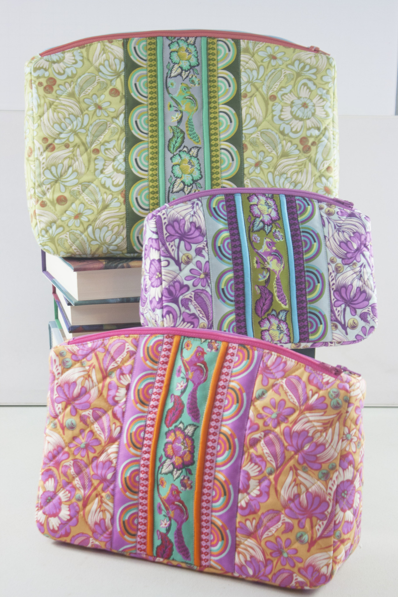 Sew Sweetness Filigree Double Zip Pouches