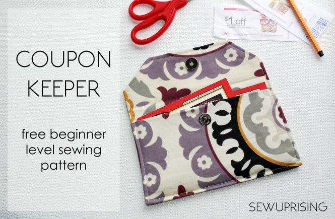 Simple Coupon Organizer FREE Sewing Pattern – Sew Uprising