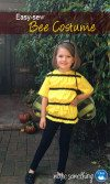 Easy Sew Halloween Bee Costume for Kids