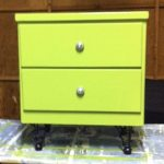 Finished upcycled bedside table