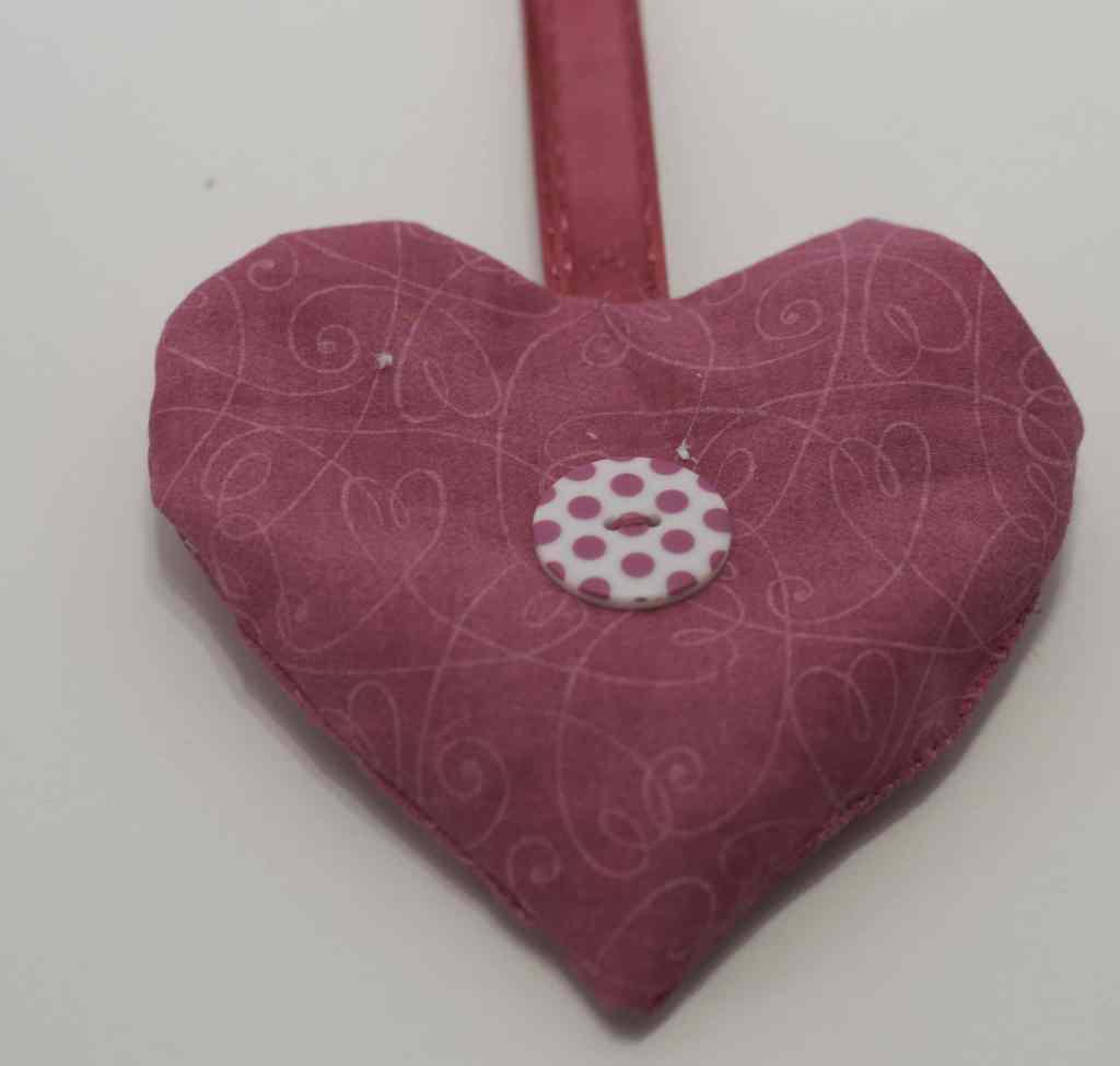 Button Embelleshed Hearet Sachet for DIY Heart Sachet, DIY Heart Sachet