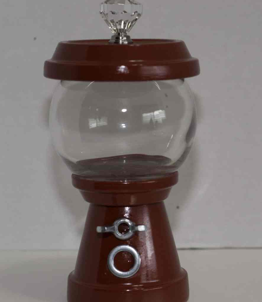 Finished Gumball Machine without Candy, DIY Gumball Machine
