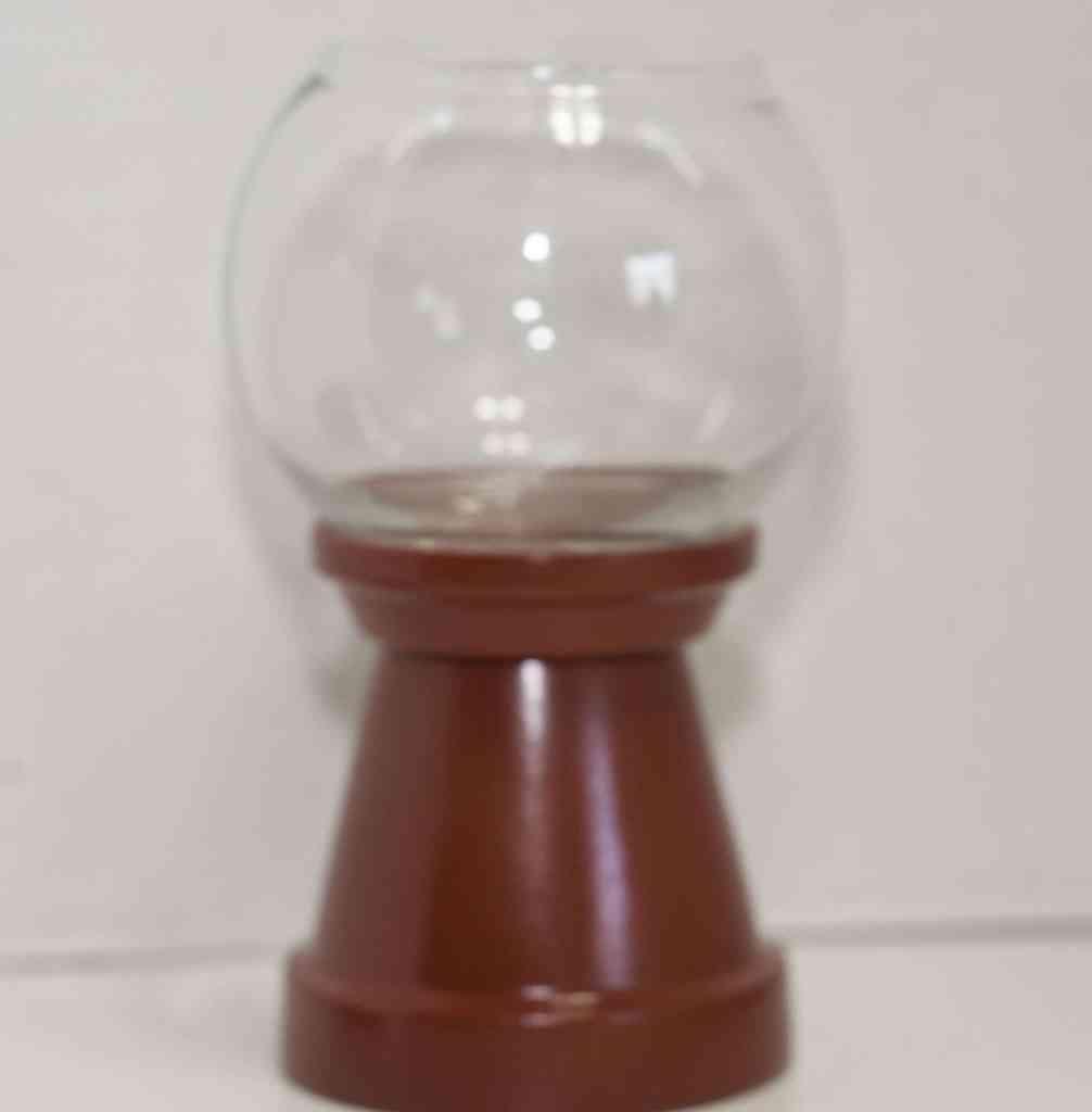 Glue-the-glass-bowel-onto-the-base-1006x1024 DIY Gumball Machine